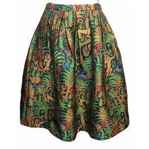 BLAQUE LABEL Scenic Jungle & Monkey Tapestry Skirt